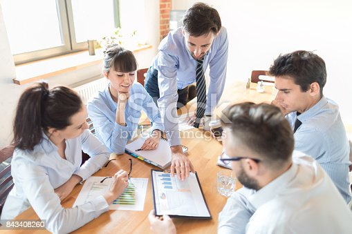 istock Teamwork and meeting concept. 843408260