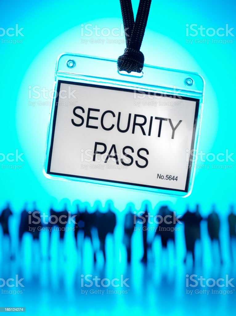Teamwork and Security Pass royalty-free stock photo