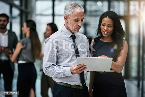 istock Teamwork and technology, indispensable tools for corporate productivity 629359280