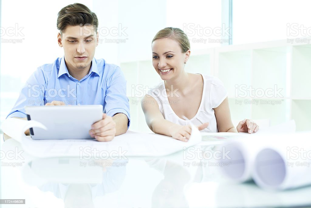 Teamwork at office royalty-free stock photo