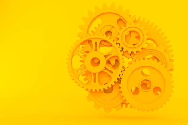 teamwork background - cog stock photos and pictures