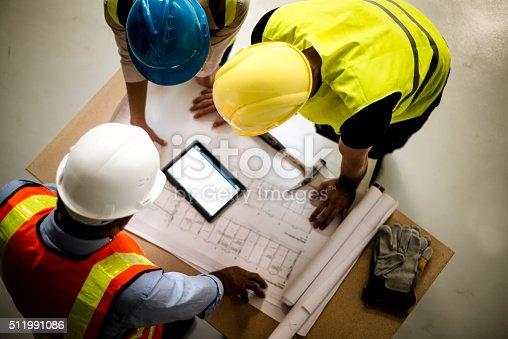 istock Teamwork building construction 511991086