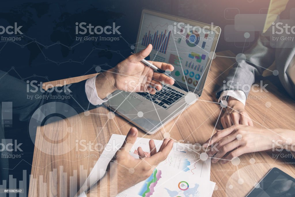 teamwork business concept. stock photo