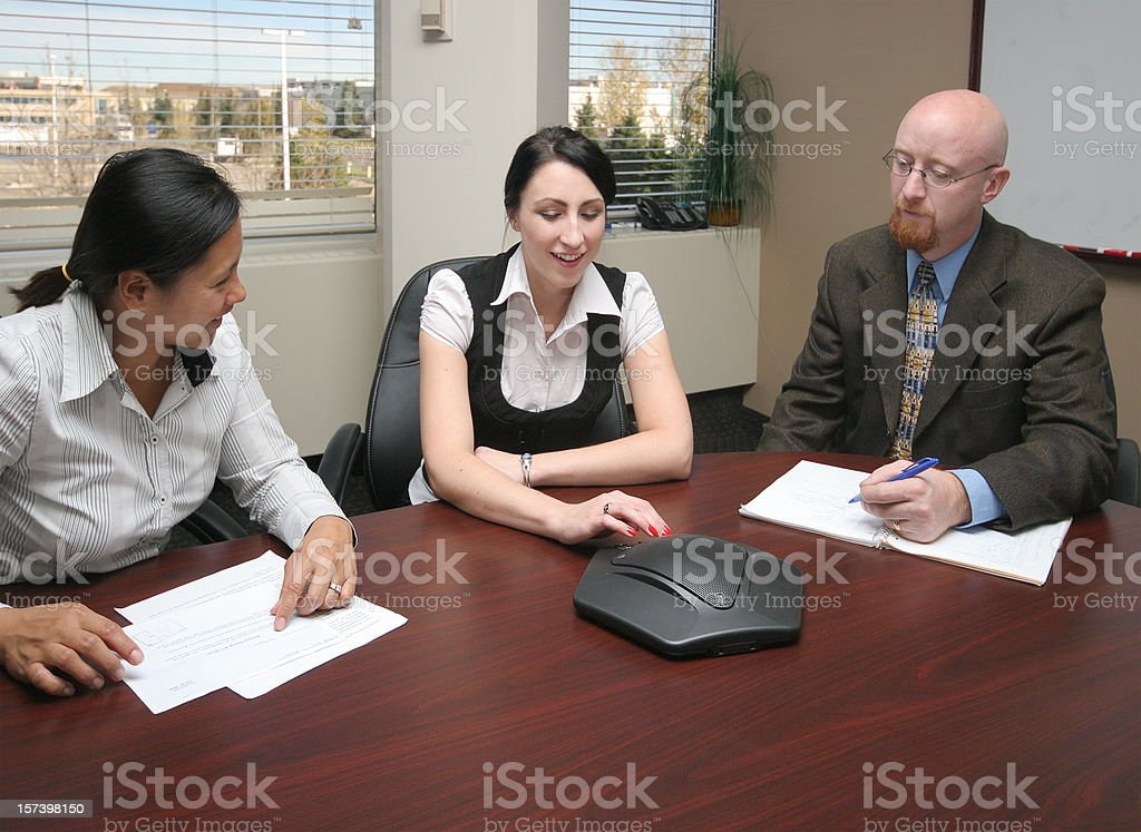Teamwork Business Meeting royalty-free stock photo