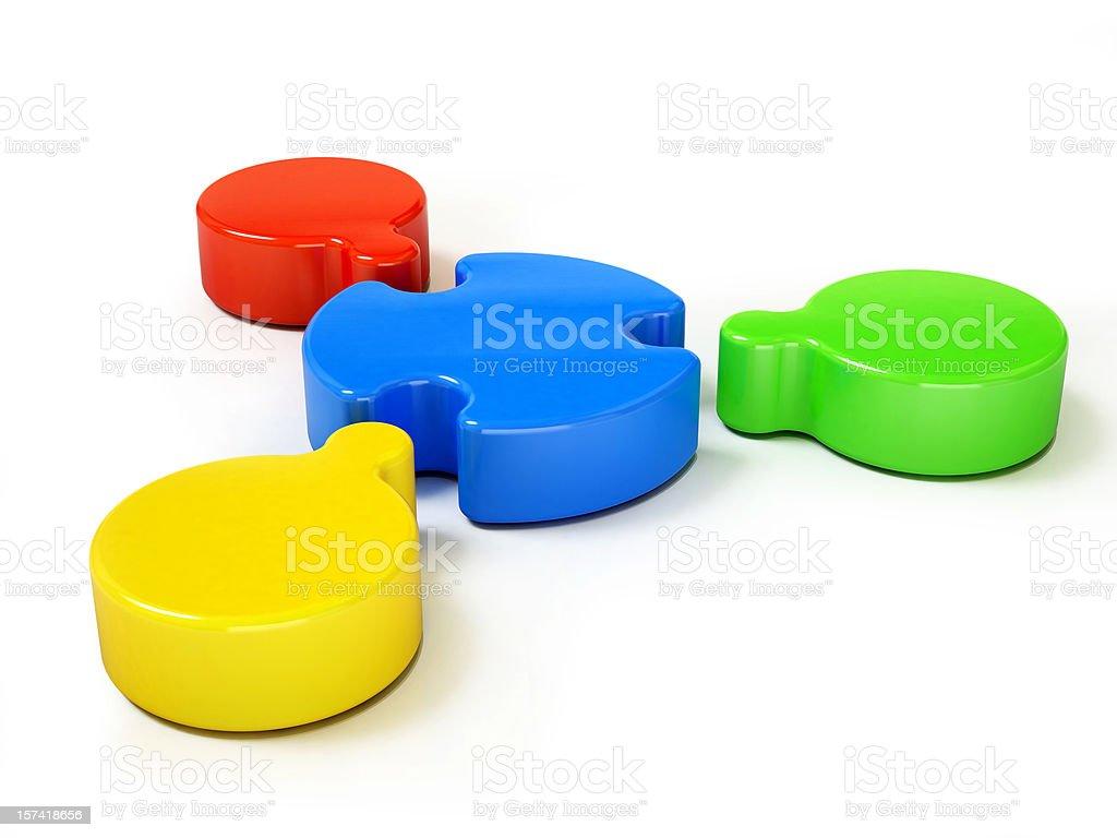Teamwork concept - coloured royalty-free stock photo