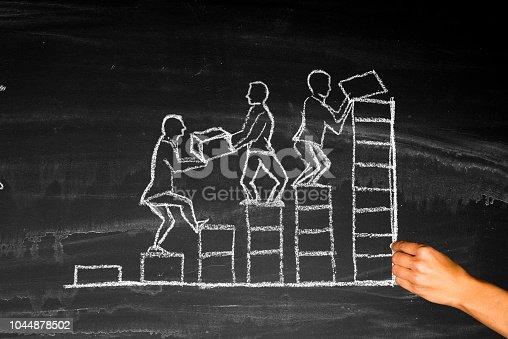 istock Teamwork concept on blackboard 1044878502