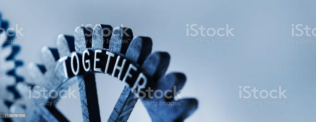 Teamwork Concept With Gears - Стоковые фото Без людей роялти-фри
