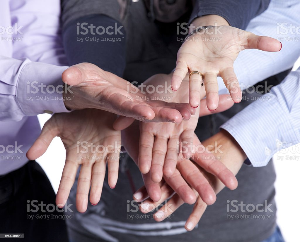 Teamwork cooperation royalty-free stock photo