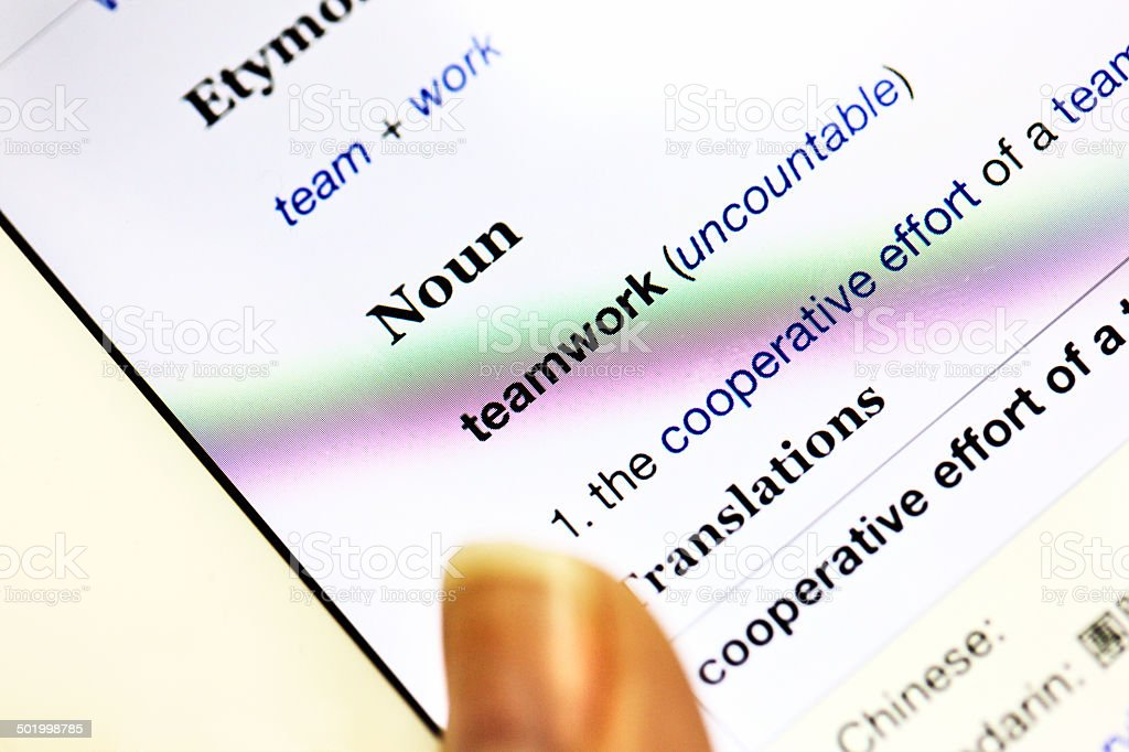 Teamwork Definition In Online Dictionary Displayed On Digital Talet