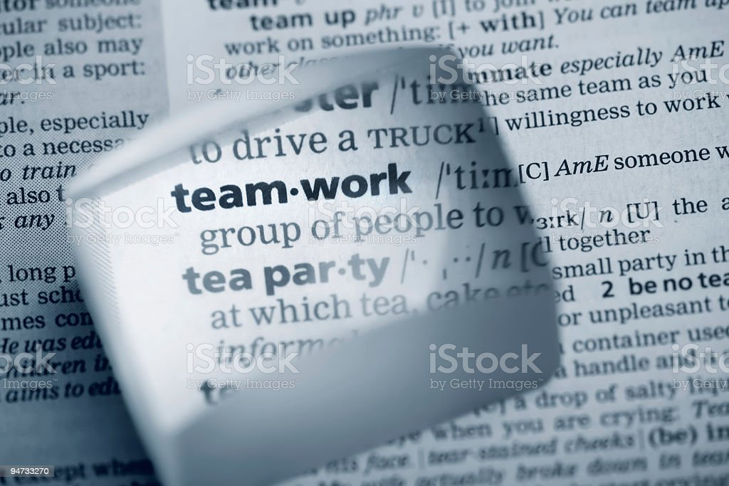 Team-Work Definition royalty-free stock photo