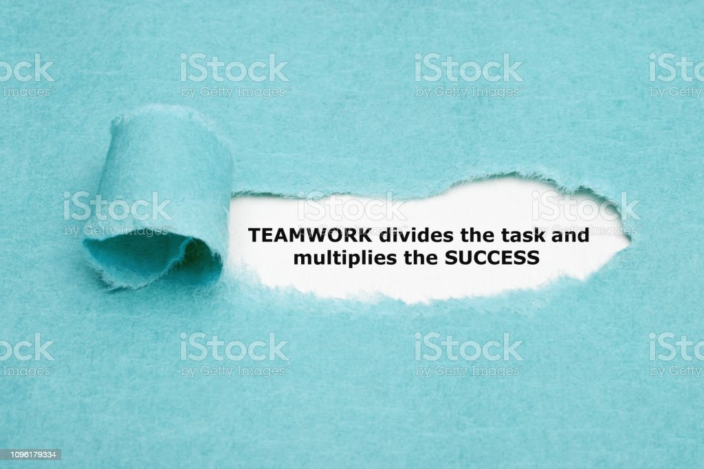 Teamwork Divides Task And Multiplies Success royalty-free stock photo