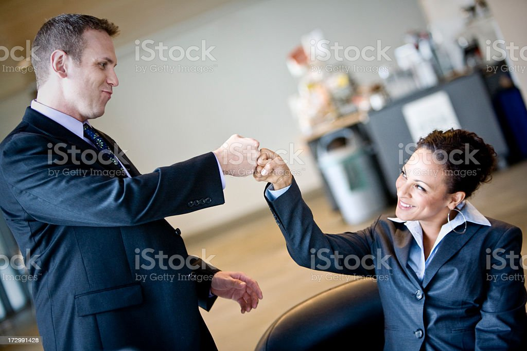 Teamwork Fist Bump royalty-free stock photo