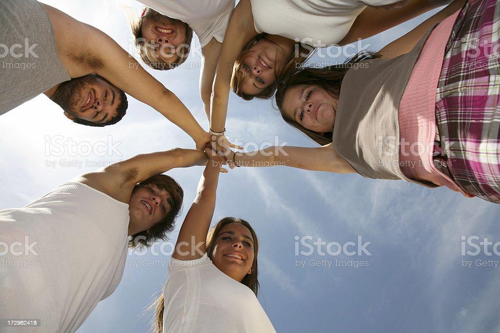 Teamwork Friends royalty-free stock photo