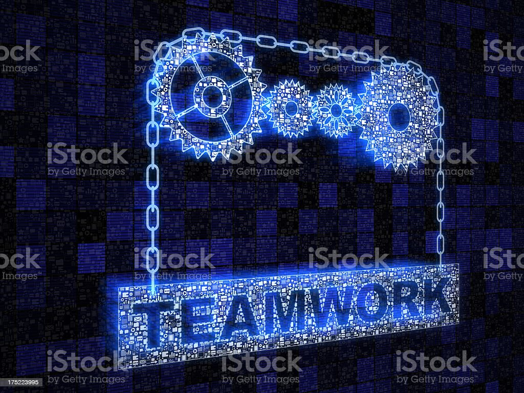 Teamwork gear royalty-free stock photo