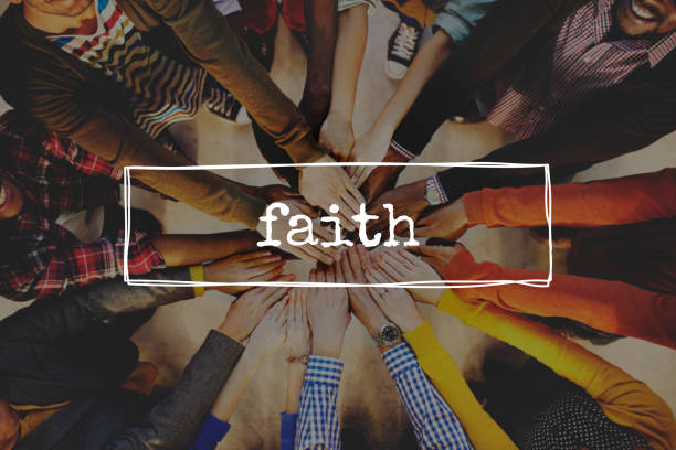 Teamwork hands stacking and supporting together Faith Hope Ideology Believe Trust Concept religion stock pictures, royalty-free photos & images