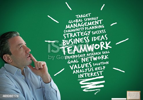 istock Teamwork Idea and Businessman 465065174
