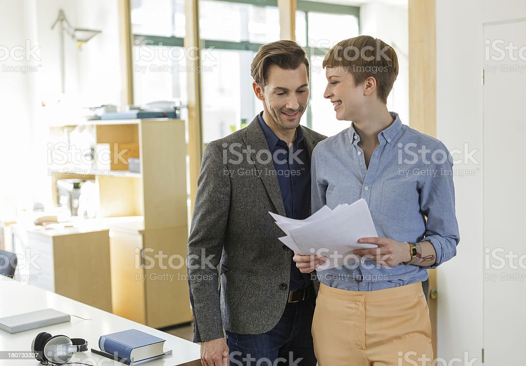 Teamwork in a new Office stock photo