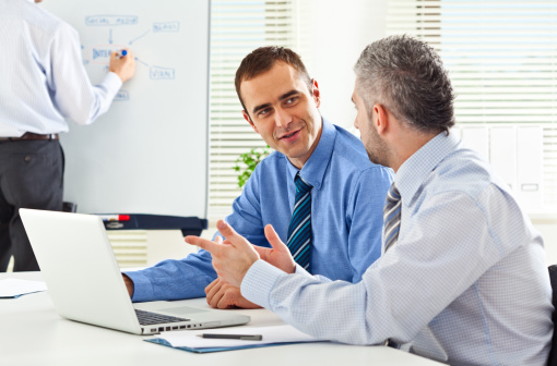 Teamwork In An Office Stock Photo - Download Image Now