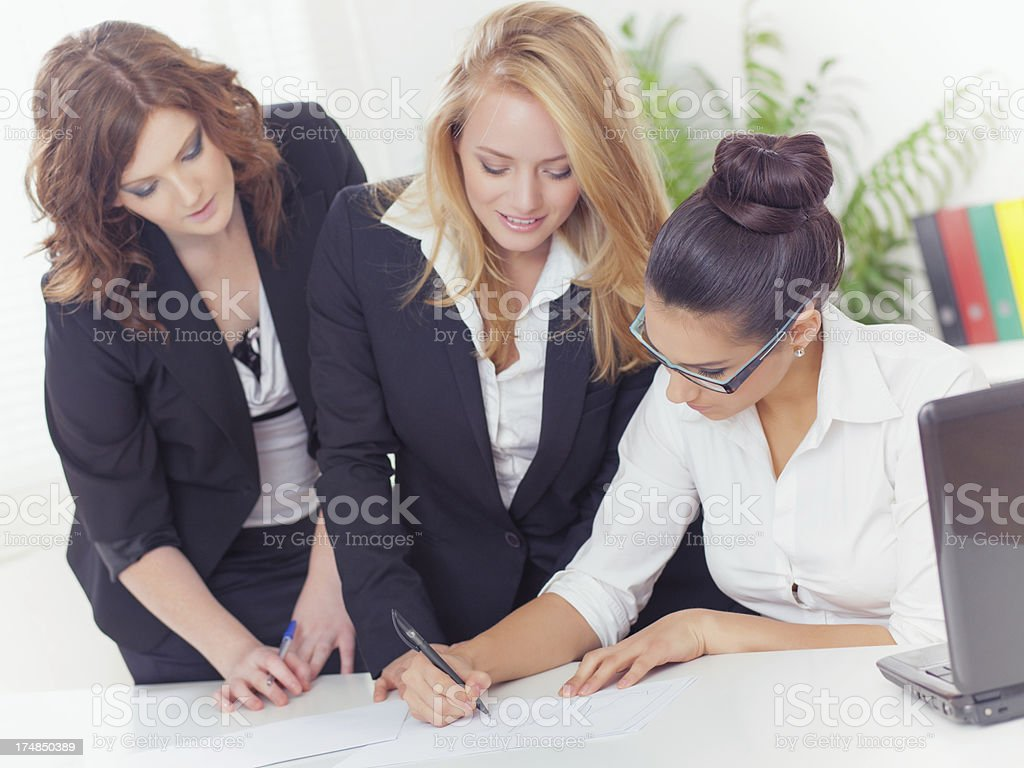 Teamwork in office royalty-free stock photo