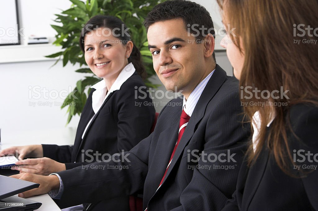 Teamwork in the office stock photo
