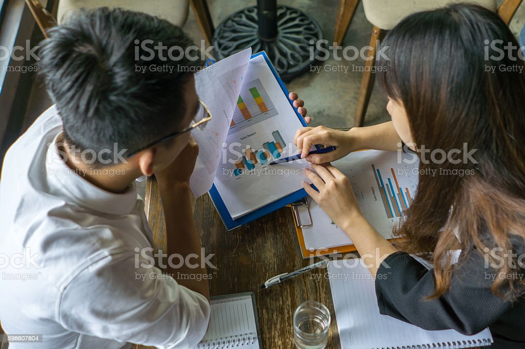 Teamwork is required for young and proactive people nowadays stock photo