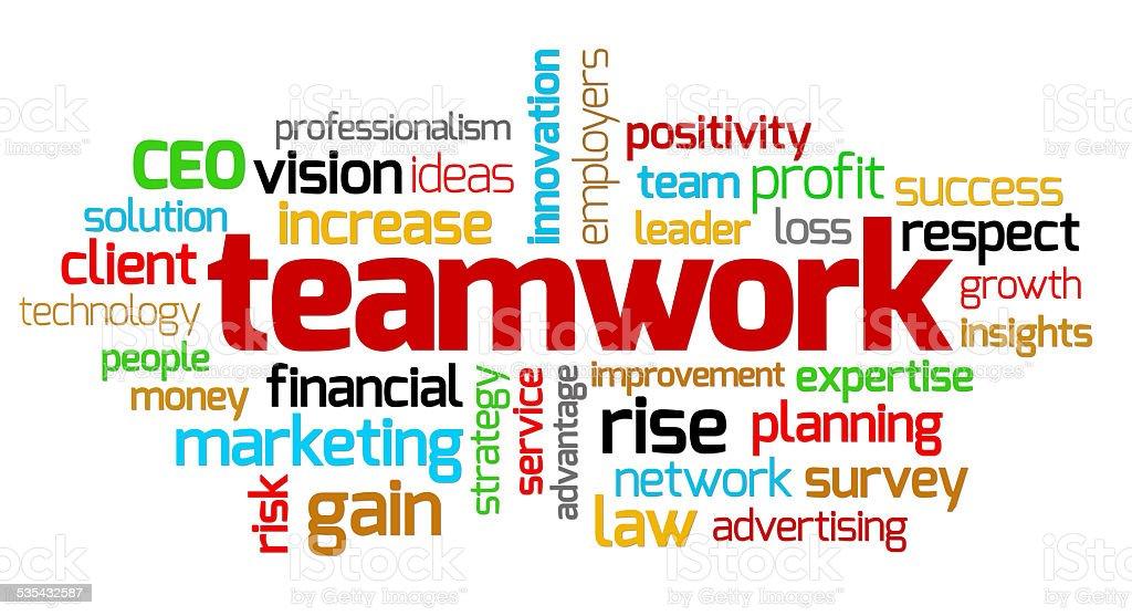 Teamwork keywords stock photo