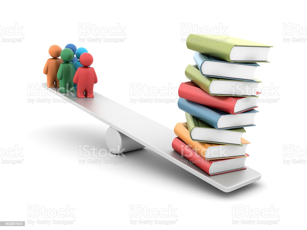 Teamwork Learning Balance royalty-free stock photo