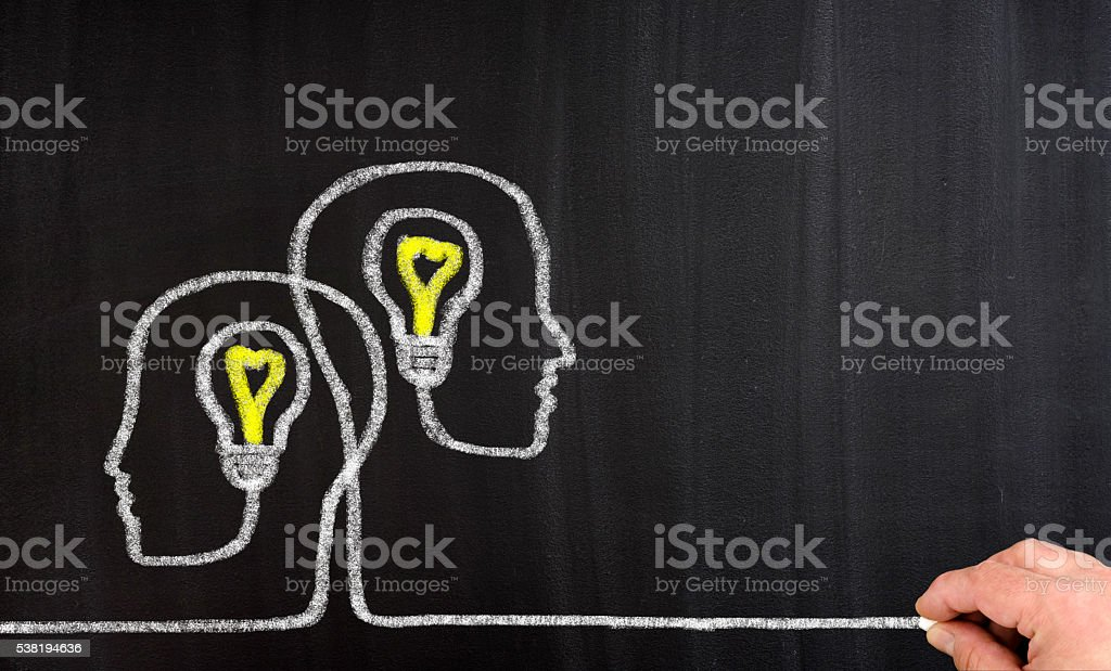 Teamwork Light Bulbs stock photo