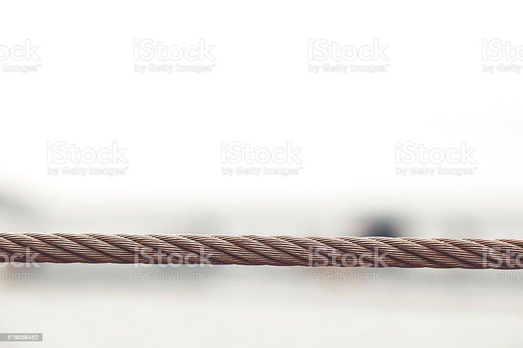 Teamwork like metal cable stock photo