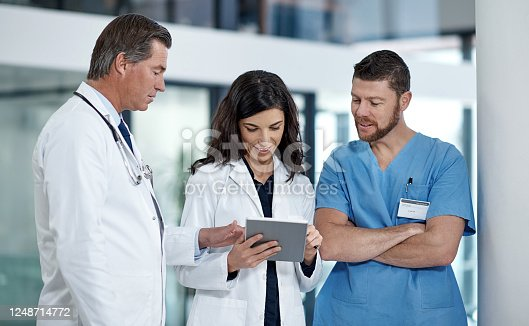 944493796 istock photo Teamwork makes all the difference in the medical field 1248714772
