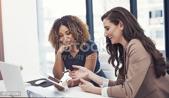 istock Teamwork makes good business great business 672973094
