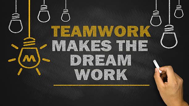 teamwork makes the dream work stock photo