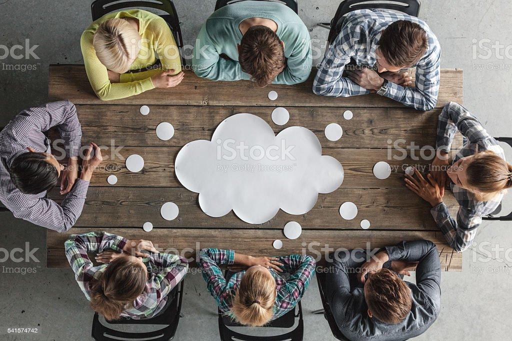 Teamwork meeting concept foto