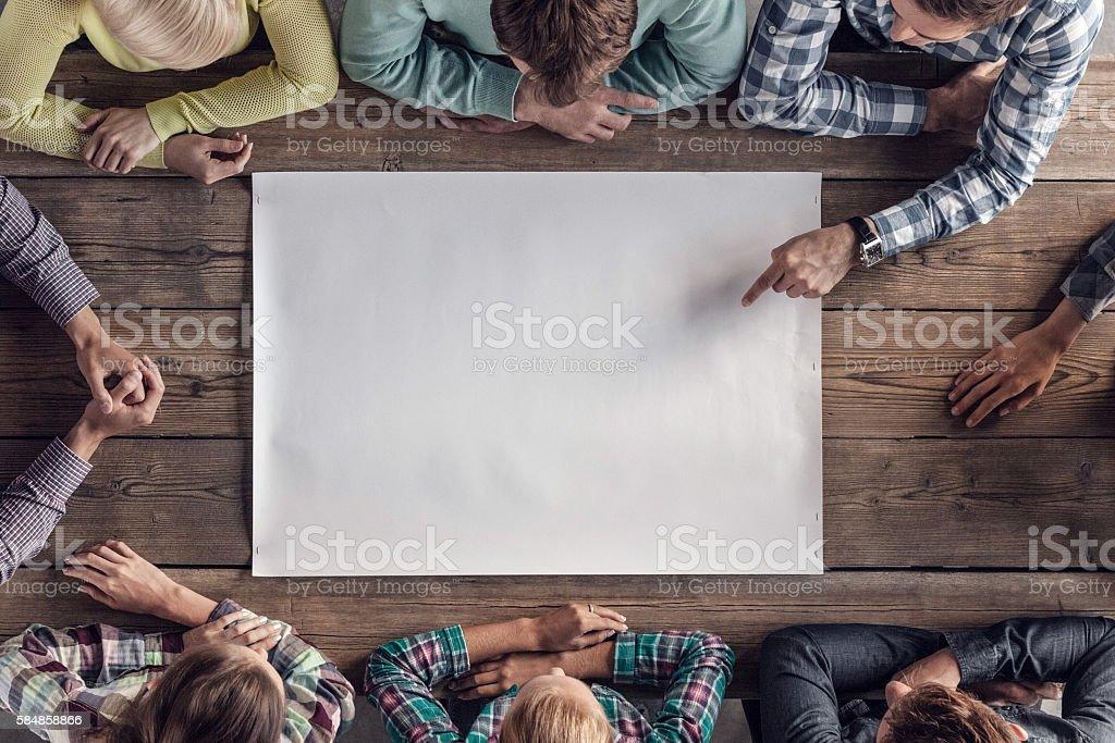 Teamwork meeting concept stock photo