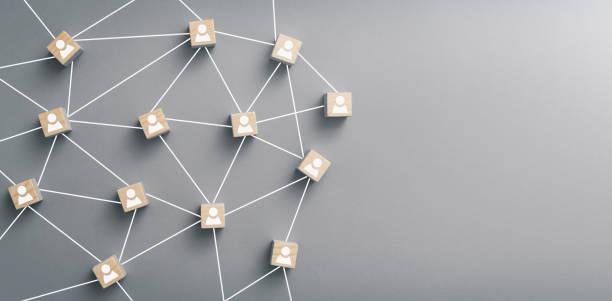 praca zespołowa, sieć i koncepcja społeczności. - sieć komputerowa zdjęcia i obrazy z banku zdjęć
