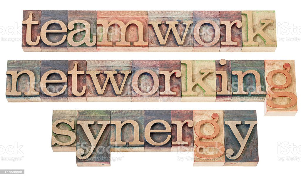 teamwork, networking and synergy royalty-free stock photo