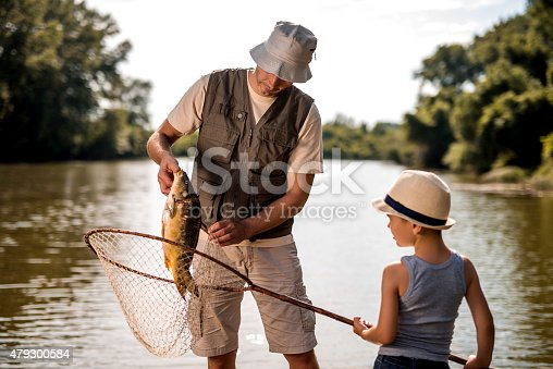 992209122 istock photo Teamwork of a water and son on fishing. 479300584