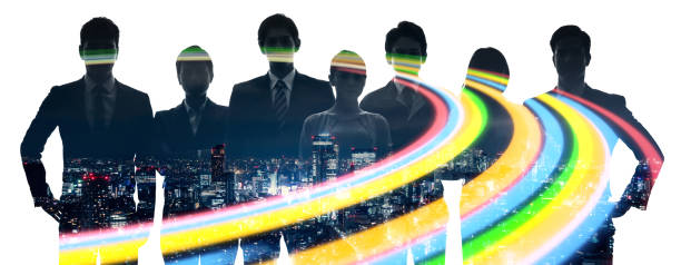 ビジネスコンセプトのチームワーク。ビジネスパーソンのグループ。 - lgbtqi  ストックフォトと画像