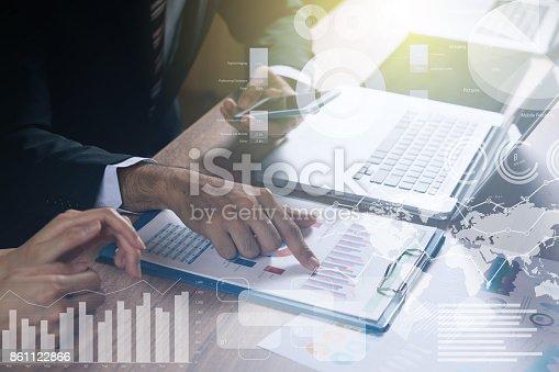 istock teamwork of business concept. 861122866