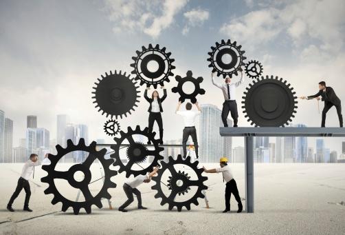 Teamwork Von Geschäftsleuten Stockfoto und mehr Bilder von Aktivitäten und Sport