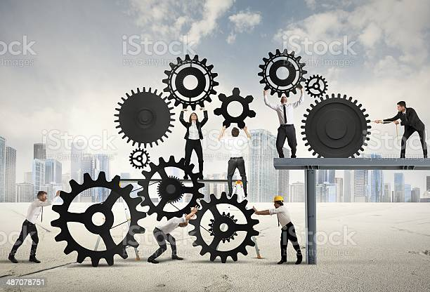 Teamwork Of Businesspeople Stock Photo - Download Image Now
