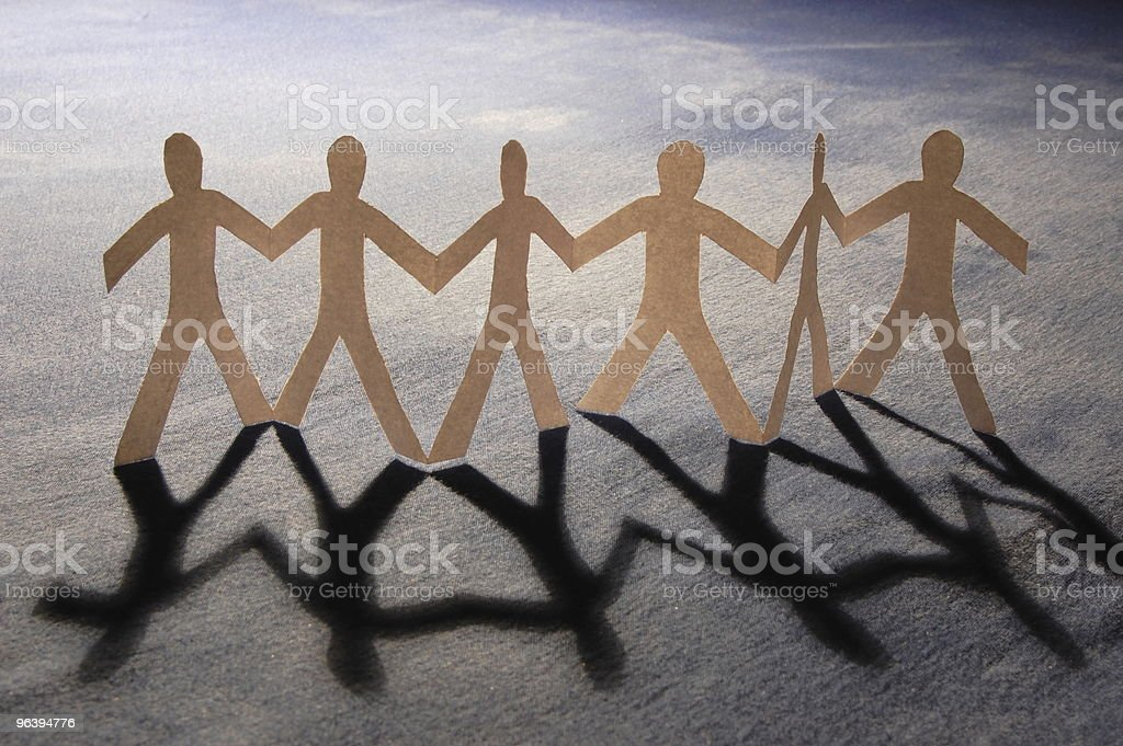 teamwork of paper team - Royalty-free Adult Stock Photo