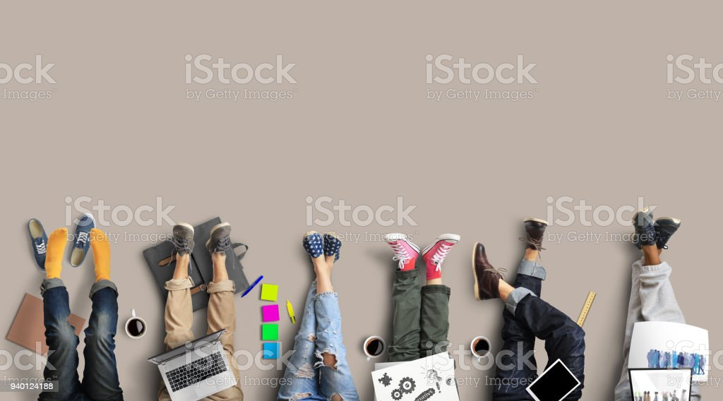 Teamwork of the staff royalty-free stock photo