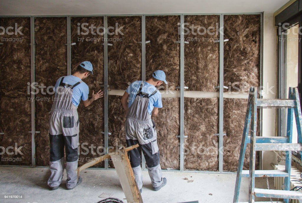 Teamwork on construction site close up stock photo