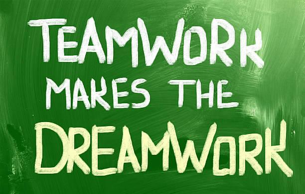 teamwork (teamarbeit) - traum team stock-fotos und bilder