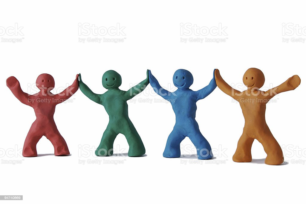 Teamwork plasticine royalty-free stock photo