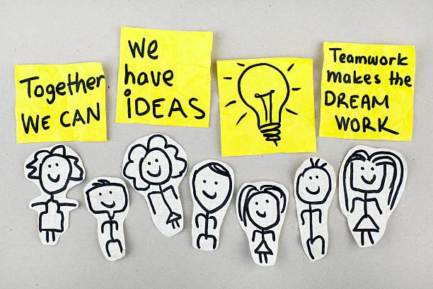Teamwork Power Concept stock photo