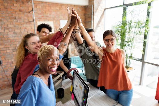 istock Teamwork Power Successful Meeting Workplace Concept 619661620