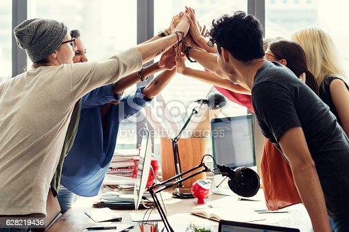 istock Teamwork Power Successful Meeting Workplace Concept 628219436