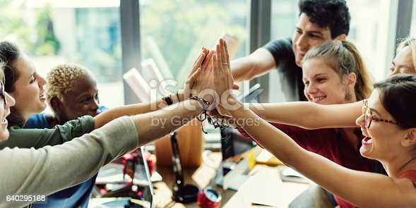 istock Teamwork Power Successful Meeting Workplace Concept 640295168
